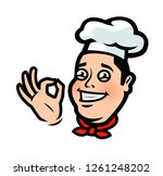 funny chef  cook. menu ... | Shutterstock .eps vector #1261248202
