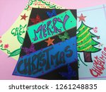 merry christmas greeting card... | Shutterstock . vector #1261248835