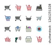 supermarket icon set. vector... | Shutterstock .eps vector #1261251328