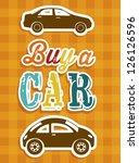 illustration of buy a car label ... | Shutterstock .eps vector #126126596