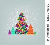 merry christmas postcard 3 | Shutterstock . vector #1261270792
