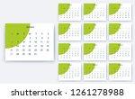 simple calendar 2019  stock...   Shutterstock .eps vector #1261278988