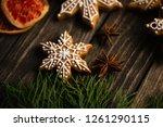 food christmas decoration  ... | Shutterstock . vector #1261290115