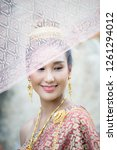 portrait beautiful woman... | Shutterstock . vector #1261294012