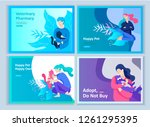 set of landing page templates... | Shutterstock .eps vector #1261295395