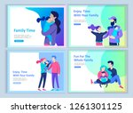 set of landing page templates... | Shutterstock .eps vector #1261301125