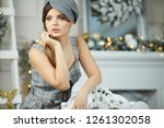 attractive young woman in her... | Shutterstock . vector #1261302058