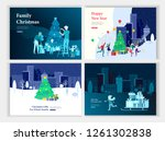 set of landing page template or ... | Shutterstock .eps vector #1261302838