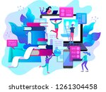 concept vector illustration of... | Shutterstock .eps vector #1261304458