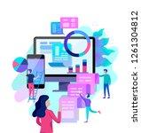 concept illustration of... | Shutterstock .eps vector #1261304812