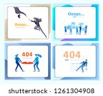 set of landing page templates... | Shutterstock .eps vector #1261304908