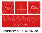 collection of vector beautiful... | Shutterstock .eps vector #1261307005