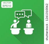 politic debate icon in flat... | Shutterstock .eps vector #1261310062