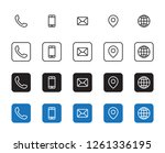 4 style contact information... | Shutterstock .eps vector #1261336195