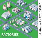 factory vector industrial... | Shutterstock .eps vector #1261351042