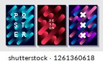 set of cosmic patterns with... | Shutterstock .eps vector #1261360618