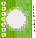greeting card with daisies and... | Shutterstock .eps vector #126137615