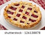 Cherry Pie With Lattice Top On...