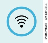 wifi medium strength icon... | Shutterstock .eps vector #1261390318