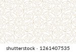 seamless linear pattern with... | Shutterstock .eps vector #1261407535