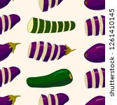 vegetables on light background. ... | Shutterstock .eps vector #1261410145