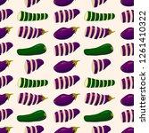 veggie seamless pattern on... | Shutterstock .eps vector #1261410322
