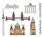 berlin sightseeing set vector... | Shutterstock .eps vector #1261420282