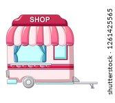 auto street shop icon. cartoon... | Shutterstock . vector #1261425565