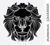 lion head icon vector   Shutterstock .eps vector #1261430335