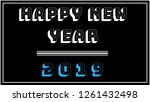 happy new year 2019. a message... | Shutterstock . vector #1261432498