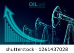 oil well rig juck low poly... | Shutterstock .eps vector #1261437028