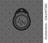 electrocardiogram icon inside... | Shutterstock .eps vector #1261447282