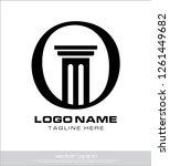 letter o law logo | Shutterstock .eps vector #1261449682