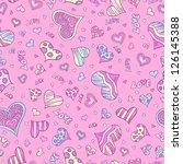 valentine hearts seamless... | Shutterstock .eps vector #126145388