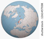 norway on the globe. earth...   Shutterstock .eps vector #1261457038