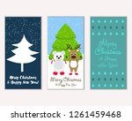vector illustration of winter... | Shutterstock .eps vector #1261459468