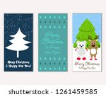 vector illustration of merry... | Shutterstock .eps vector #1261459585