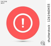 attention sign vector icon 10... | Shutterstock .eps vector #1261460455
