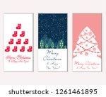 vector illustration of merry... | Shutterstock .eps vector #1261461895