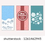 merry christmas and happy new... | Shutterstock .eps vector #1261462945