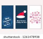vector illustration of merry... | Shutterstock .eps vector #1261478938