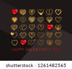 valentines day background with... | Shutterstock .eps vector #1261482565