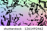 disco background. many random... | Shutterstock .eps vector #1261492462