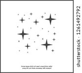 vector icon of the star  starry ... | Shutterstock .eps vector #1261492792