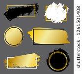 vector black paint  ink brush... | Shutterstock .eps vector #1261501408