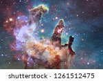 nebula an interstellar cloud of ... | Shutterstock . vector #1261512475