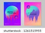 music flyer set. modern techno... | Shutterstock .eps vector #1261515955