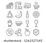 set of mocha  tea cup and... | Shutterstock .eps vector #1261527145