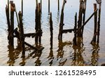 The Remains Of A Pier At Low...