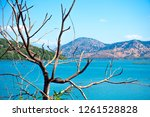 beautiful landscape of ionian... | Shutterstock . vector #1261528828
